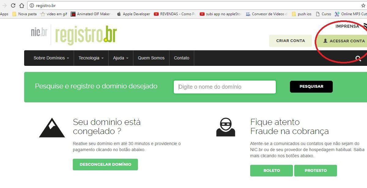 Como Realizar um Apontamento de seu Domínio Dentro do Registro.br