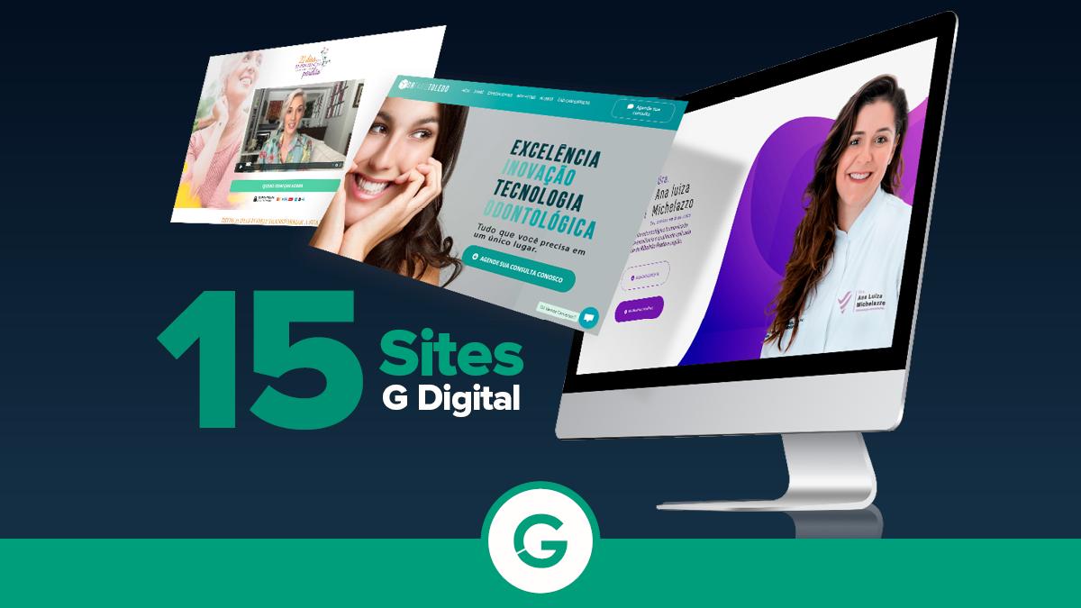 15 Sites Criados na G Digital para se Inspirar e começar a vender online!